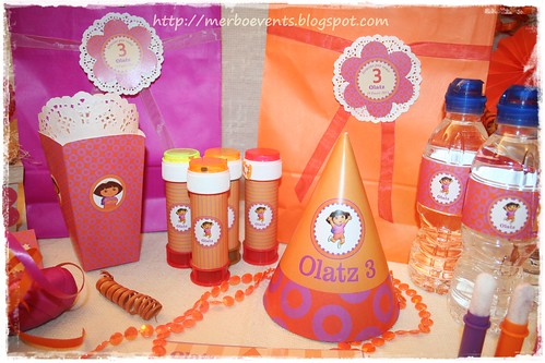 Kit de fiesta imprimible Dora 2. Merbo Events