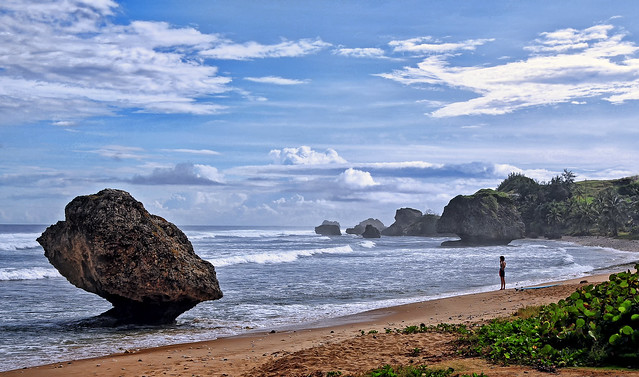 Alone on Bathsheba Beach