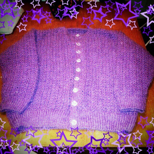 New purple cardi... #thriftyfind #vintage #knitted #cute #kawaii by NiNEFRUiTSPiE