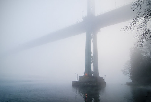 Bridge in fog by petetaylor