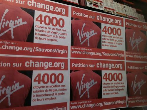 Virgin Mégastore - soutien aux salariés