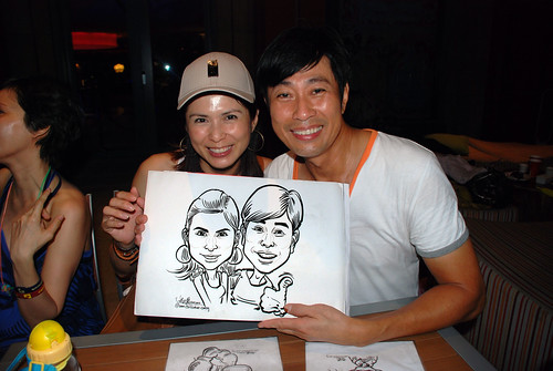 caricature live sketching for Mark Lee's daughter birthday party - 23