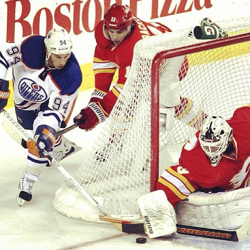 The battle of #alberta tonight! #hnic #yyc #flames #oilers
