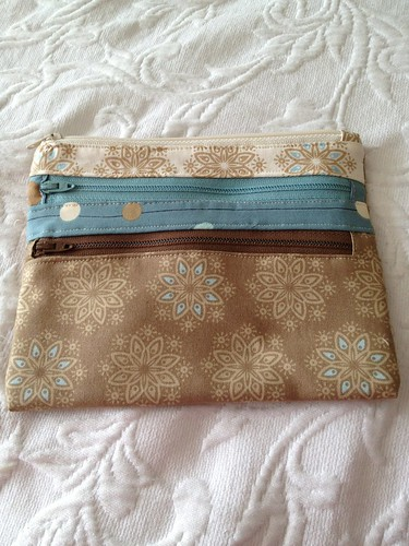 triple zip pouch by magscrafts