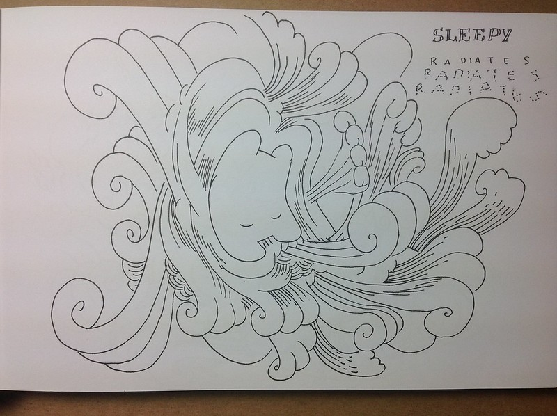 Sleepy Radiates is the title of a drawing by Marc Ngui