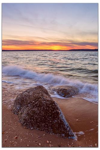 sunset cloud newyork water rocks longisland longislandsound eatonsneck