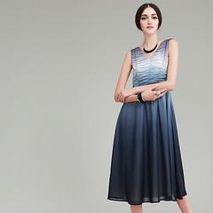 V-neck fold dress 1