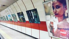 #metro #advertising #cocacola #coupe #history #turkiye #underground #today #istanbul #yenikapı #photo #people