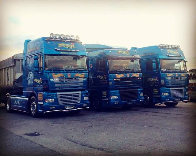 McAuliffe Trucking DAF XF trio