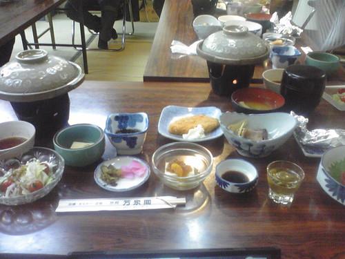 芳泉閣1日目の晩ご飯