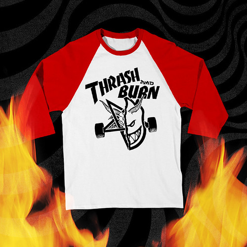 thrash and burn raglan