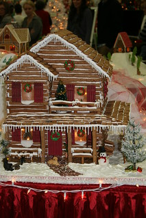 Mountain Time Christmas - gingerbread house 3 story lodge
