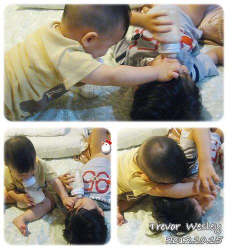 121015-小兔爪伸向哥哥的眼皮