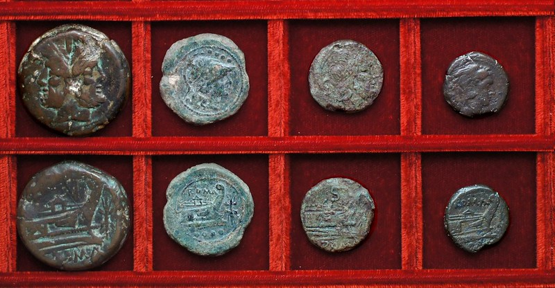 RRC 119 thunderbolt bronzes, Ahala collection, Roman Republic