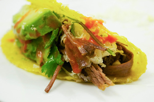taco with pulled beef
