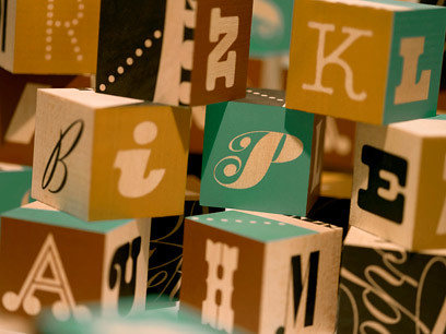 Photo-Lettering alphabet blocks