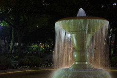 横浜スタジアムの噴水