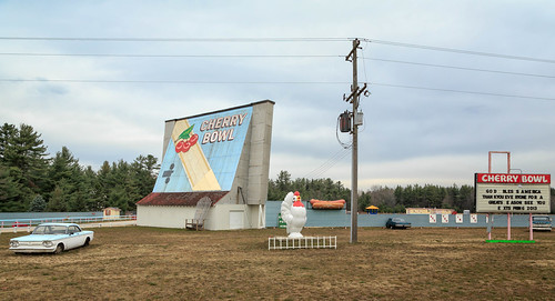 The Cherry Bowl Drive In Theater, Honor, MI, November, 2012
