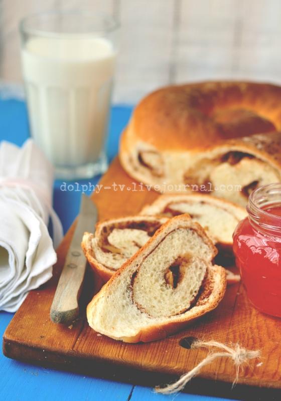 Cinnamon and Walnut Swirl Bread