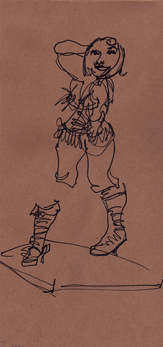 Dr Sketchy's Baltimore with KiKi Allure - Blind Contour