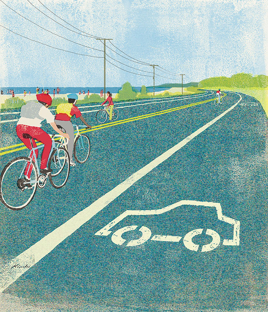 Tatsuro Kiuchi Car Path stencil