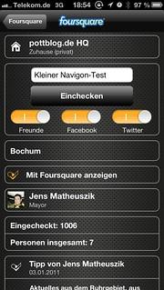 Navigon mit Foursquare-Integration
