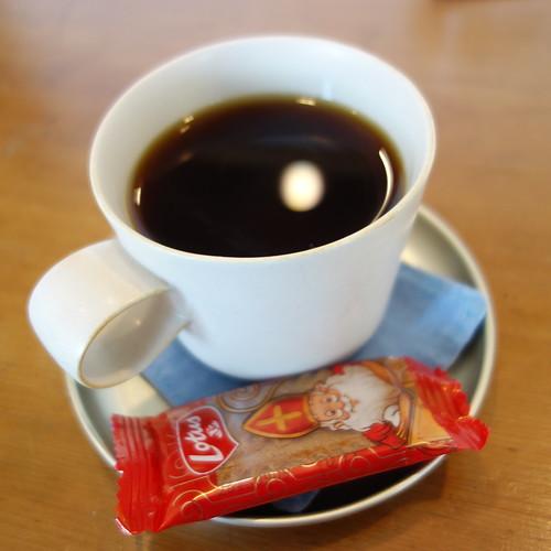 今月のコーヒー。ノエルブレンド。甘いお菓子に合う味。