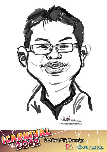 digital live caricature for iCarnival 2012  (IDA) - Day 1 - 90