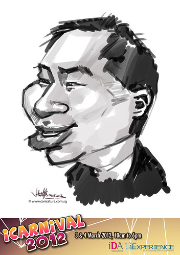 digital live caricature for iCarnival 2012  (IDA) - Day 2 - 57