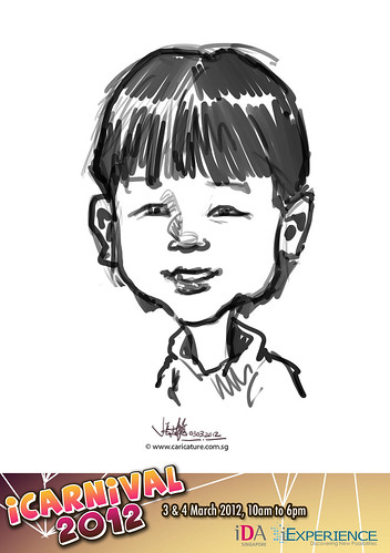 digital live caricature for iCarnival 2012  (IDA) - Day 1 - 26