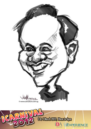 digital live caricature for iCarnival 2012  (IDA) - Day 2 - 3