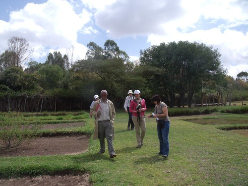 Review team in Debre Zeit forage field