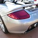 Porsche Carrera GT in GT Silver Metallic in Beverly Hills California Rear LED lamp