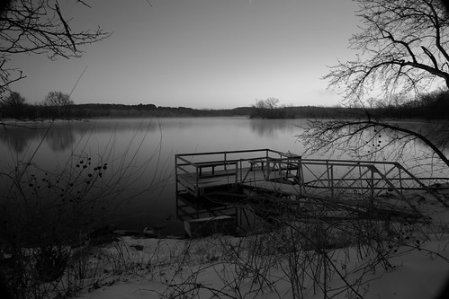 longexposure blackandwhite bw water sunrise kansas