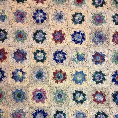 Handmade #crochet #motif #blanket