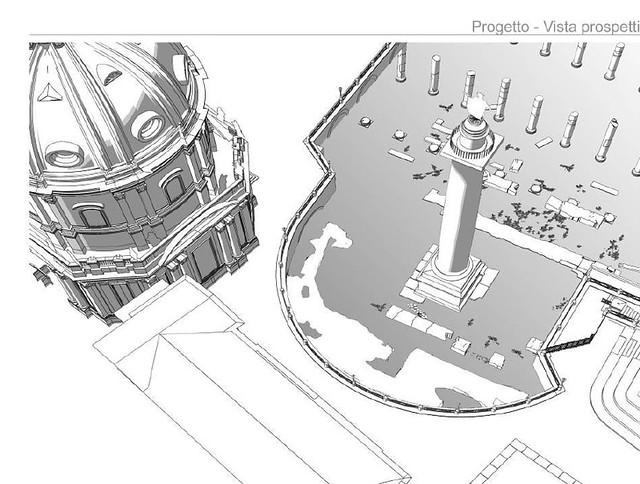 """ROMA ARCHEOLOGIA: """"INTERVENTO DI RIQUALIFICAZIONE AMBIENTALE DELL'AREA DELLA COLONNA TRAIANA PER IL RECUPERO DELL'EMICICLO NAPOLEONICO."""" Di Dott. Arch. Maurizio Anastasi, SOV. COMUNE DI ROMA (18.03.2009 / 08/06/2012).*"""