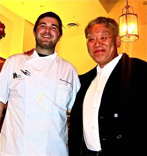 two giants-Chef Bernard and Nao