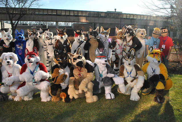 Fursuit Photoshoot after the Parade
