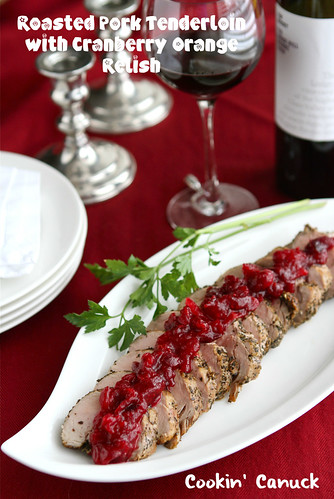 Roasted Pork Tenderloin Recipe with Cranberry Orange Relish