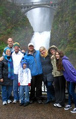 Buchanan family at Multnomah Falls