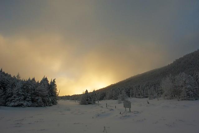 縞枯山荘冬の朝