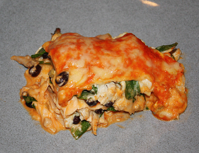 Roasted Red Pepper Enchilada Casserole 2
