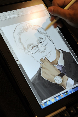 digital portrait live sketching for Vacheron Constantin - 2a (2)