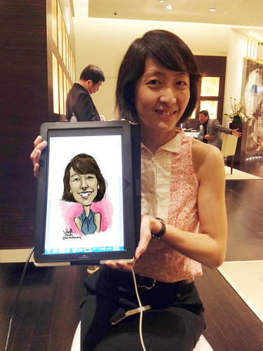 digital caricature live sketching for Vacheron Constantin - 4a