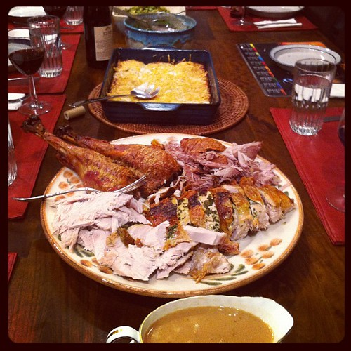 The entire feast at #Christmas dinner. #food