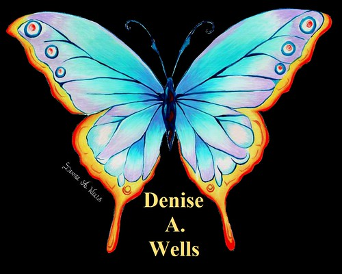 Butterfly Acrylic painting by Denise A. Wells