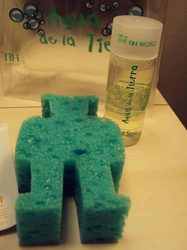 Even the sponge is in the shape that is fascinating for the baby!