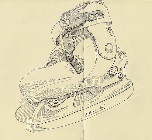 Caro's new skates by Fred Ramon