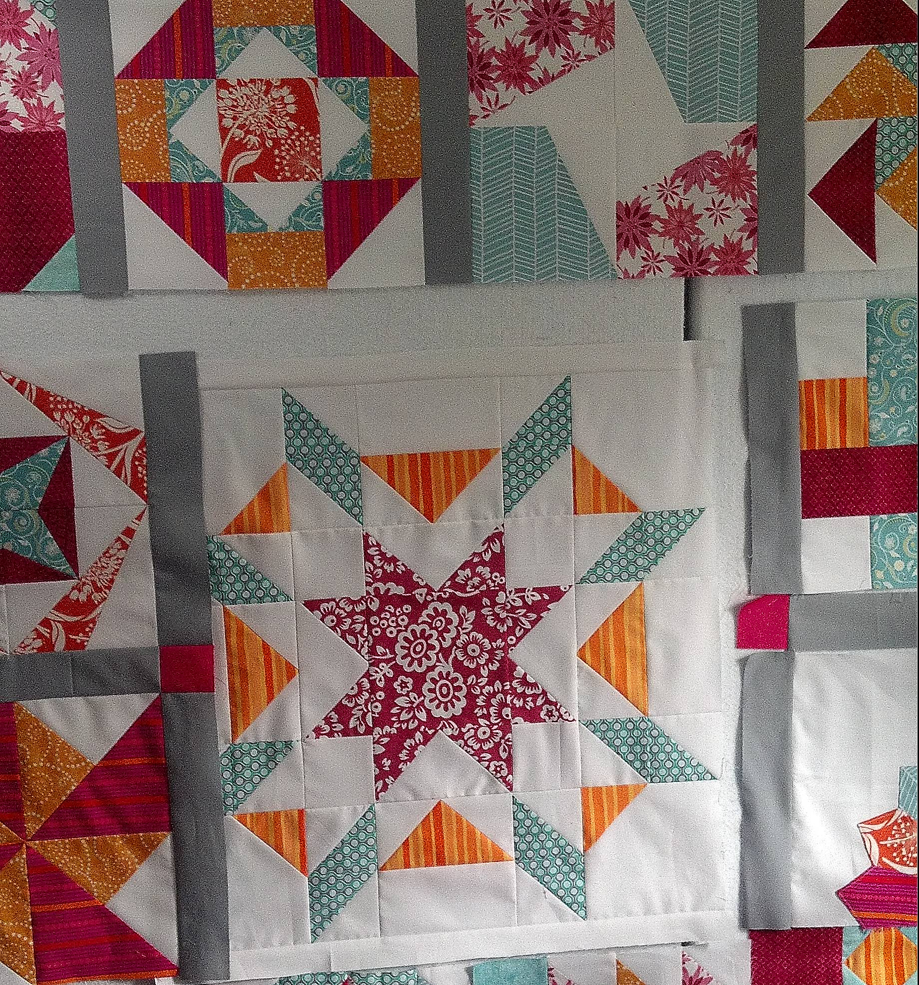Sew Happy Quilt QAL progress - December 2012