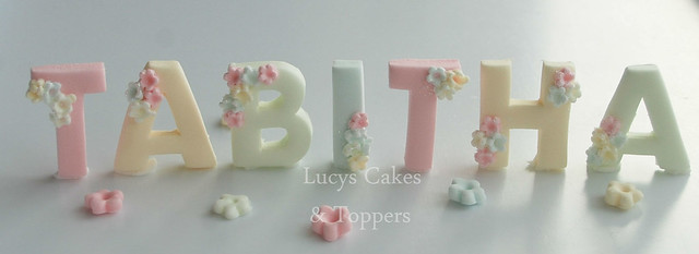 Cake Toppers Letters Uk : Pastel colour edible letter cake toppers Flickr - Photo ...